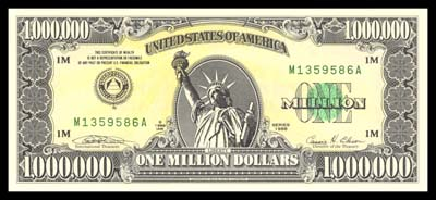 Front Of American Bank Note Company Miilion Dollar Bill