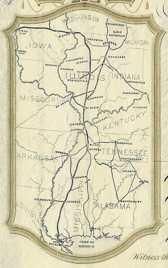 Illinois Central route map 1