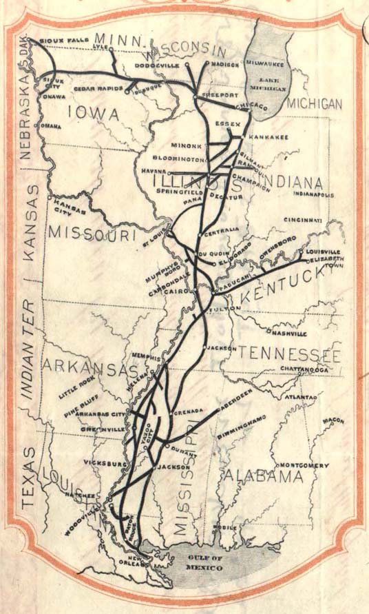 Illinois Central route map 4