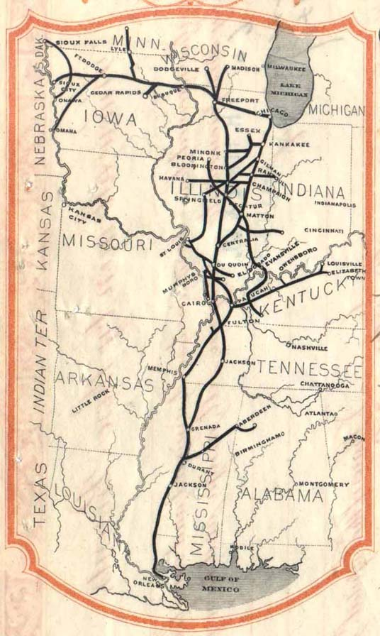 Illinois Central route map 5