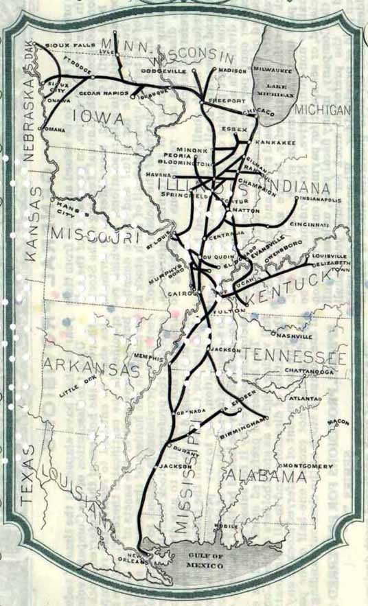 Illinois Central route map 6