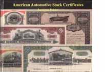 Front cover, American Automobile Stock Certificates